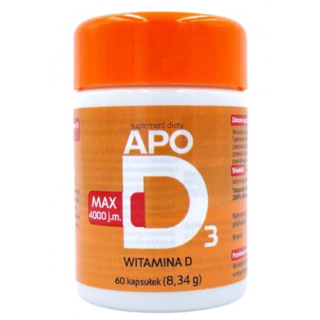 ApoD3 MAX, witamina D3 4000 j.m., 60 kaps