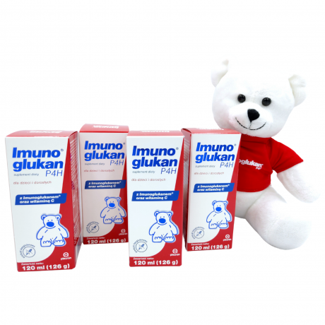 Imunoglukan P4H® Płyn 120ml x 4 - czteropak