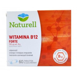 Naturell Witamina B12 forte, tabl.do ssania, 60 szt