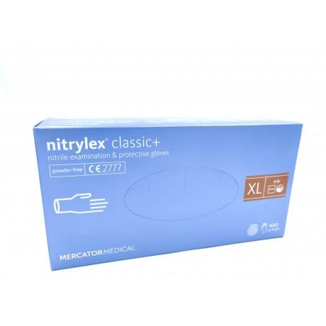 Rękawice Nitrylex classic+,b/pudr., diagn.,XL,100 szt