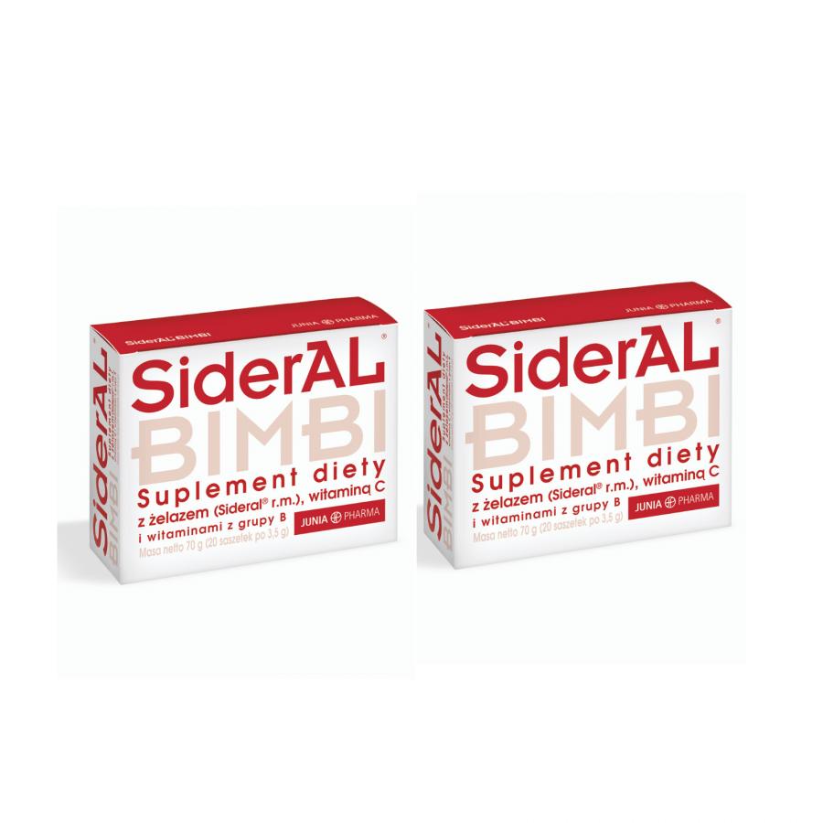 SiderAL® Bimbi 2 x 20 saszetek - dwupak